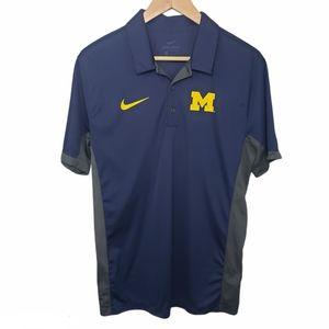 NIKE MICHIGAN Dri-Fit Polo Shirt Size M
